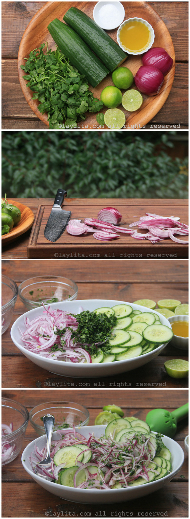 准备青柠香菜黄瓜沙拉