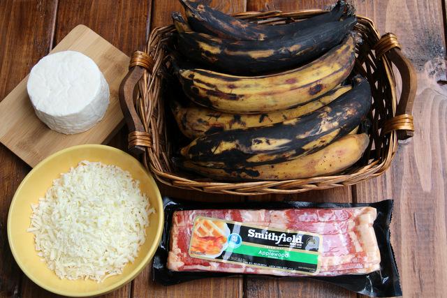 培根大蕉的食材