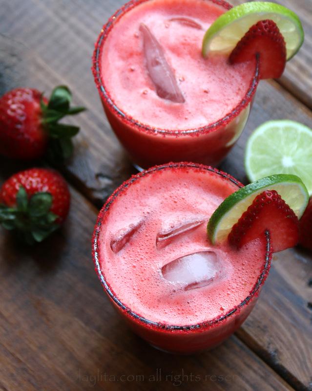 自制草莓玛格丽塔酒