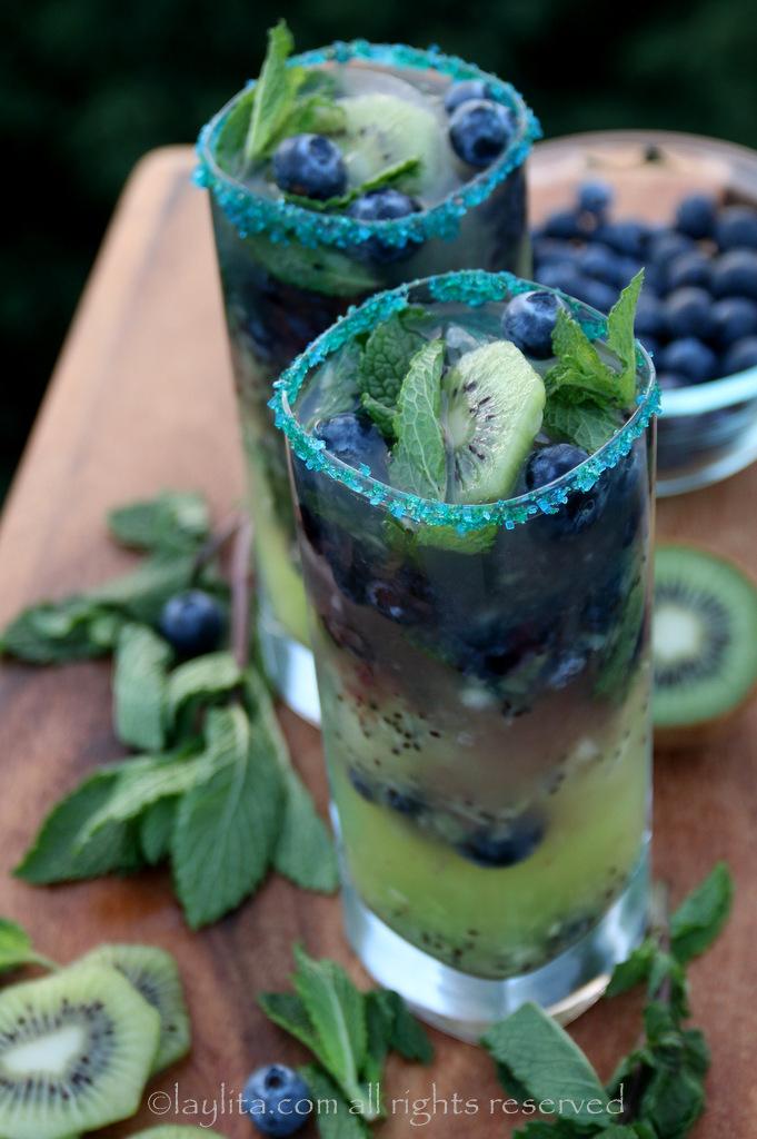 奇异果蓝莓莫希托食谱