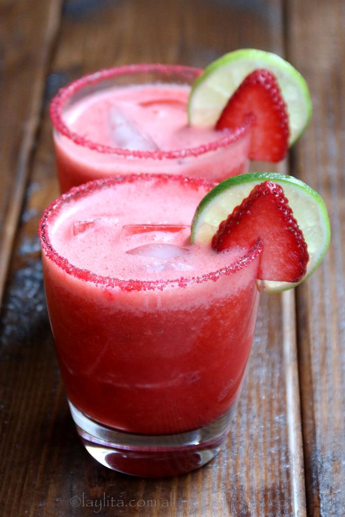 清爽草莓青柠玛格丽达酒