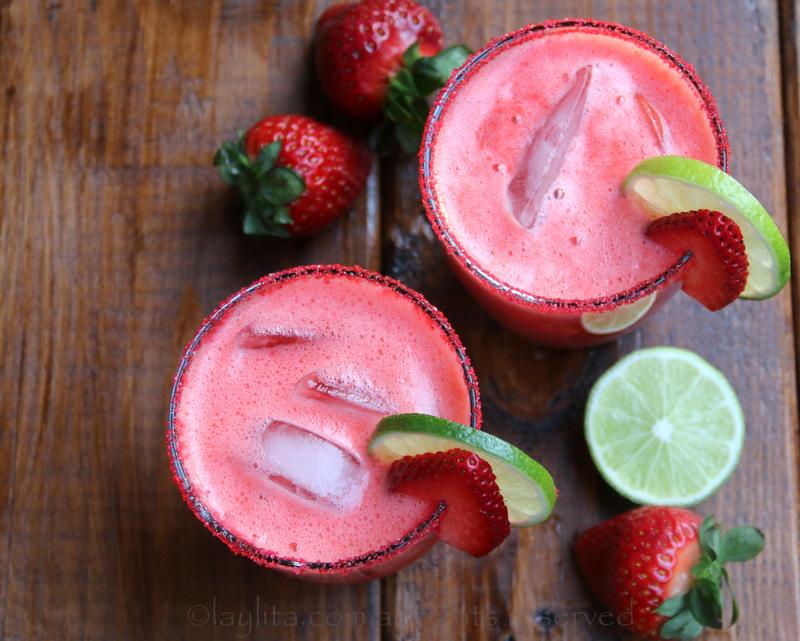 草莓玛格丽达酒