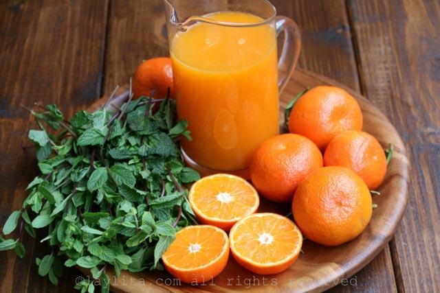 做橘子莫希托的材料
