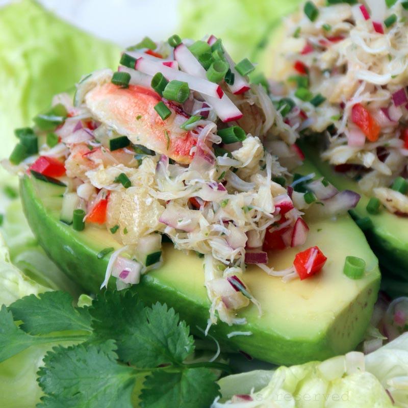 牛油果螃蟹沙拉