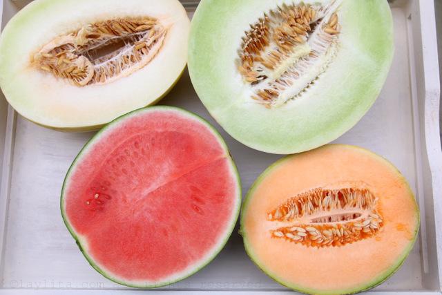 蜜瓜(白色和绿色)、西瓜和哈密瓜