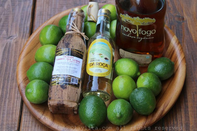 青柠和甘蔗酒制作卡琵莉亚鸡尾酒