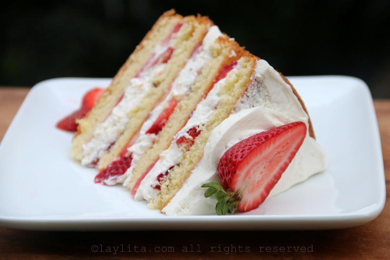 草莓奶油夹心蛋糕食谱
