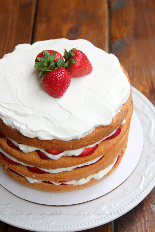 简单草莓奶油蛋糕