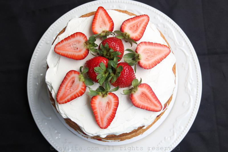 高高的草莓蛋糕