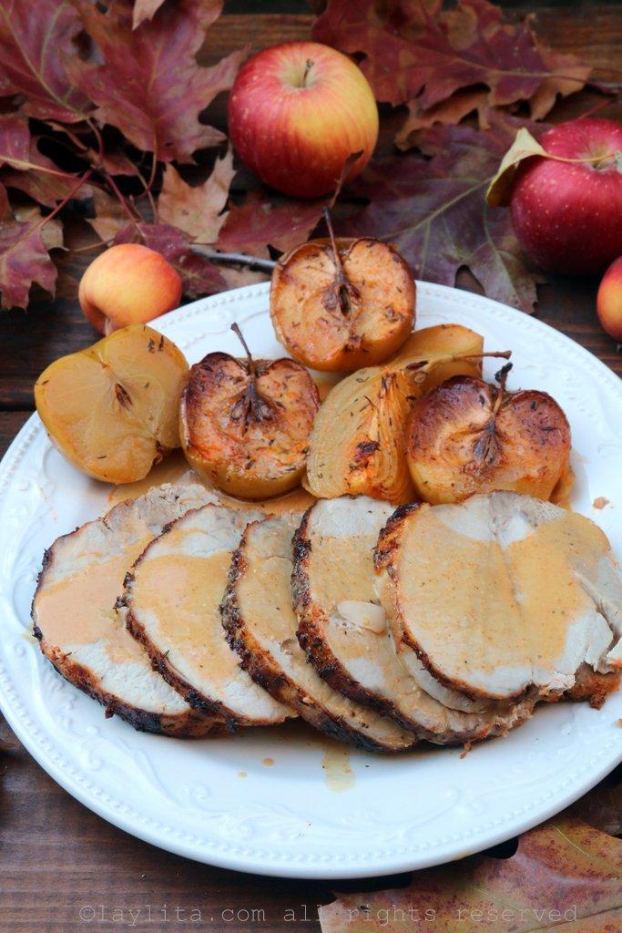苹果酒烤猪里肌