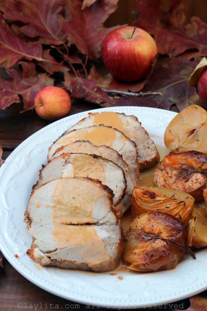 苹果烤猪里肌
