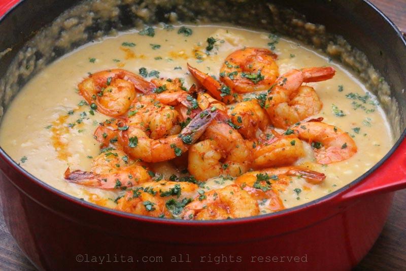 玉米虾杂烩汤