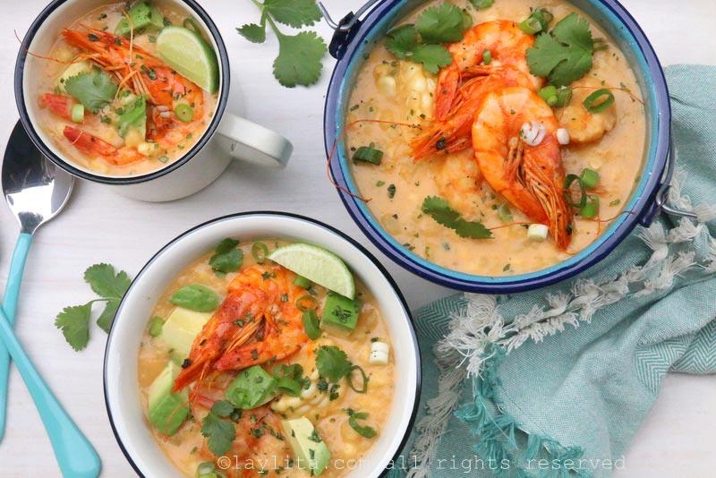 玉米虾杂烩汤食谱