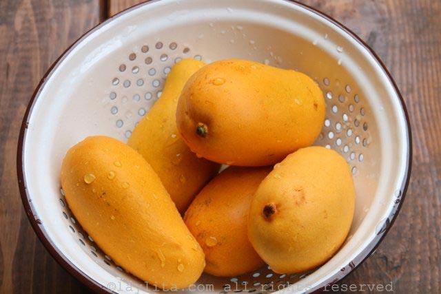 冰棒的熟芒果