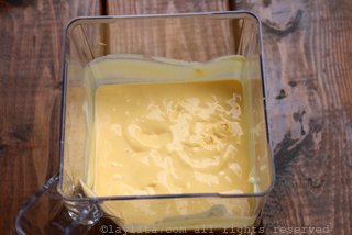 混合芒果片与酸奶和蜂蜜