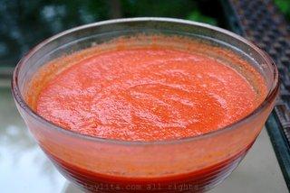 冰镇番茄冻汤好几个小时才上桌
