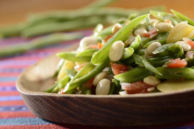 绿豆沙拉配羽扇豆