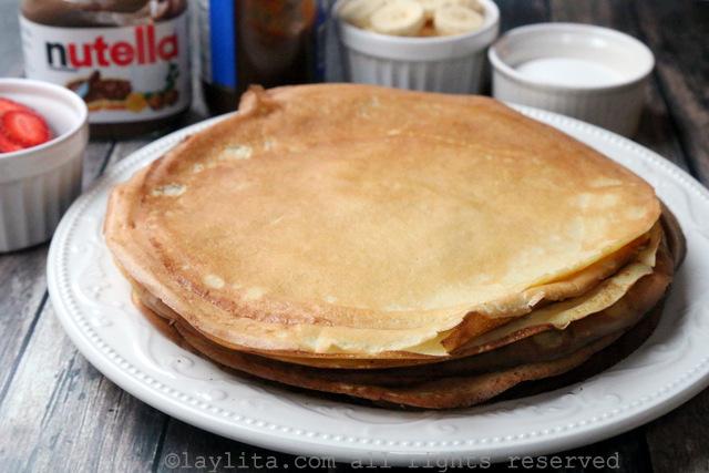 简单容易的法式薄饼