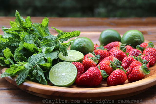 草莓莫希托的材料