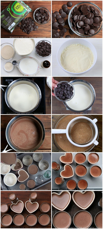 如何做意式黑巧克力奶冻