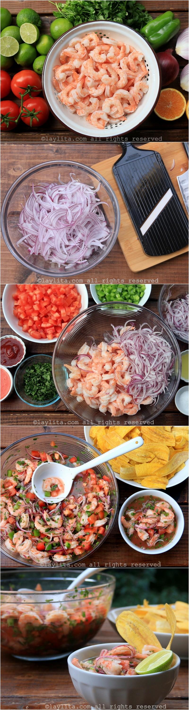 准备厄瓜多尔鲜虾柠檬渍的照片步骤
